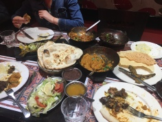 Indian food for dinner
